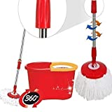 360 Degree Spinning Mop Bucket Home Cleaner With Two Mop Heads