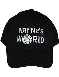 Waynes Welt Muetze Kappe Wayne Campbell Schwarz Hut Cosplay Kostuem