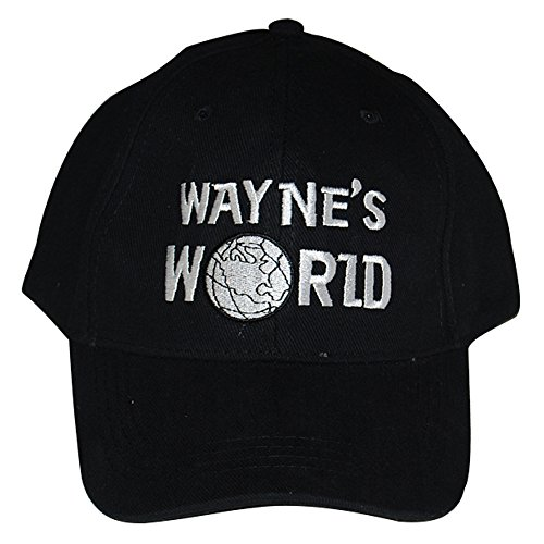 Kostüm World Waynes - FUMAN Waynes Welt Mütze Kappe Wayne Campbell Schwarz Hut Cosplay Kostüm