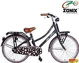 Zonix Mädchen Hollandrad Schwarz / Design 20 Zoll mit Frontträger
