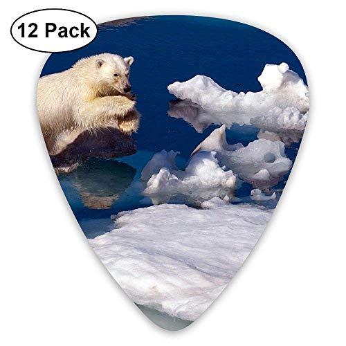 7f98799d7d34 Classic Guitar Pick (12 Pack) Brave Polar Bear Animal Player's Pack for  Electric Guitar,Acoustic Guitar,Mandolin,Guitar Bass