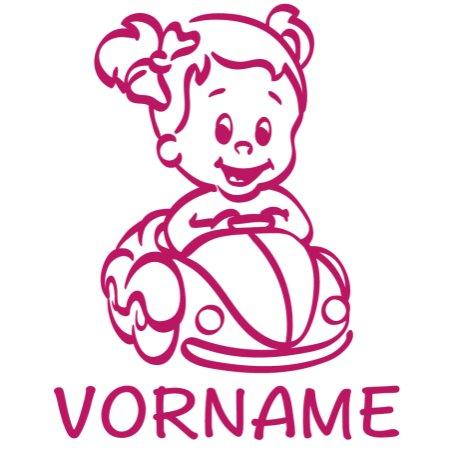 Baby Autoaufkleber mit Namen - Babyaufkleber Auto Mädchen - (Höhe 15cm) - Baby on Board Aufkleber - Babysticker mit Wunschnamen - von stick-us