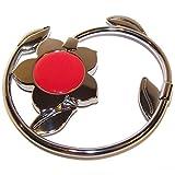 Miss Kha - Accroche Sac Pliable S-Tail Fleur Rouge