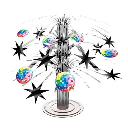 Décoration centre de table Disco Fever - 19 cm | Cascade décorative soirée année 70 | Articles de fête à thème | Décor fête années 80