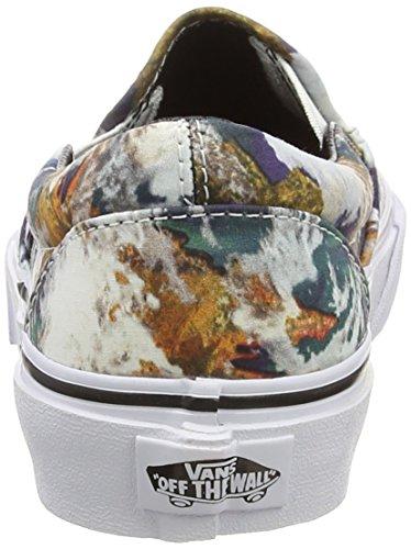 Vans - Classic Slip-on, Scarpe da Ginnastica Basse Unisex da Adulto Blu (Earth - Blue/True White)