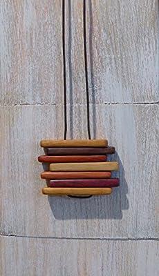 Sautoir fait main en bois précieux + lingette nettoie Argent offerte.