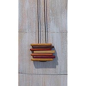 Halskette aus Edelholz Hand wischen säubert + Silber.