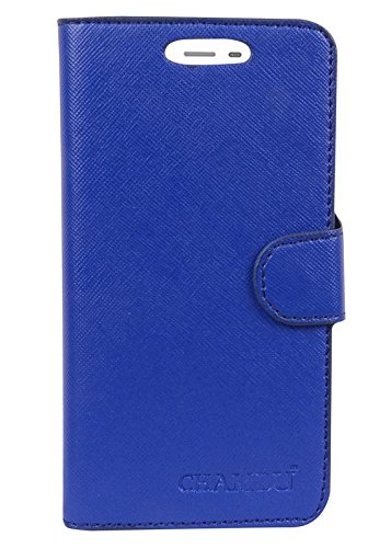 TIMBU Wallet Flip Cover For Karbonn Quattro (4G) L50 HD-blue