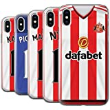 Offiziell Sunderland AFC Hülle / Gel TPU Case für Apple iPhone X/10 / Pack 24pcs Muster / SAFC Trikot Home 15/16 Kollektion