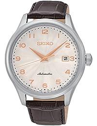 Seiko Herren-Armbanduhr Mechanik Analog Automatik Leder SRP705K1