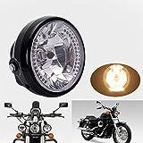 DLLL 35W 26 17.78 cm bernstein Crystal Clear LED Halogen Scheinwerfer Tagfahrlicht Halo Drehen für Signal-Licht Motorrad
