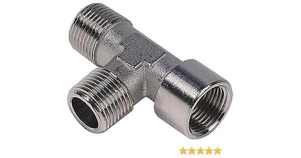 Schlauchtülle mit zylindrischem Außengewinde /& Dichtung Druckluft Wasser Fitting
