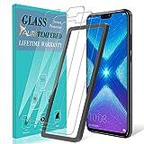 TAURI [3 Stück Schutzfolie für Huawei Honor 8X Panzerglas, [Alignment Frame] [Einfache Installation] [Lebenslanger Ersatz Garantie], Panzerglasfolie HD Klar Glas Bildschirmschutzfolie für Honor 8X