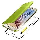 ebestStar - Coque Samsung Galaxy S6 SM-G920F, G920 - Housse Coque Etui View Clear Cover Miroir + Mini Stylet tactile, Couleur Or / Doré [Dimensions PRECISES de votre appareil : 143.4 x 70.5 x 6.8 mm, écran 5.1'']