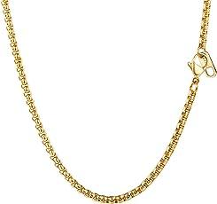 PROSTEEL Halskette Hochwertig Edelstahl Ankerkette Erbskette 3MM Breite Herren Kette mit Karabinerverschluss 46-81CM Lang