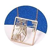 Beydodo Colgantes Acero Inoxidable Mujer Antialergico Collar de Mujer Mapa de Ruta de la Ciudad Colgante Mujer Oro Rosa