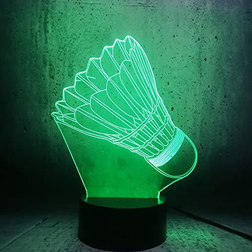 Badminton Led Nachtlicht 3D Lampe Sport Dekoration Lampe Schlafzimmer Schlaf Licht Teenager Sport Fans Geschenke Lampe Raum Dekor Lampe Lava