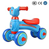 Waroomss Baby Balance Bike, Mini Fahrrad, Safe Schiebe Fahrrad Schiebe Walking Learning Bike mit 4 Rädern für 1-3 Jahre Old Girl Boy, Geburtstagsgeschenk