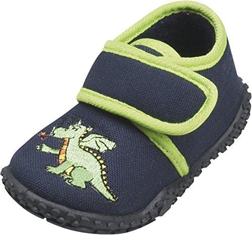 Playshoes 201751, Pantofole unisex bambino - Blu