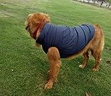 Sneff Trade Warm gefüttert Hundemantel Hundejacke Winter Hundeweste Hundebekleidung Pet Dog Coats Jackets Rot Blau Braun für kleine und mittlere Hunde S Brust 43cm/ Hals 30cm/ Ruecklaenge 30cm -