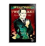 Dale Cooper aus Das Geheimnis von Twin Peaks (2017, David Lynch) - Original gerahmt Fine Art Malerei, Poster, Leinwand, Artwork, Druck, Plakat, Leinwanddruck, film, geek, nerd, Film
