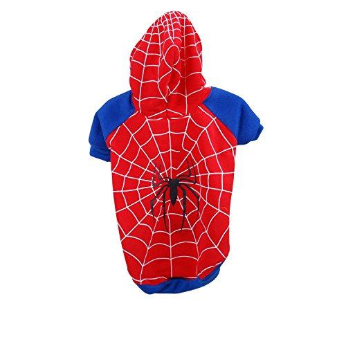 Kostüm für Hunde Spinne-Größe L-Rot
