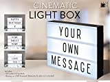 A4 Cinematic Light Box Sign with Letters and Emojis for Parties, Weddings, Promotion, Baby Milestones