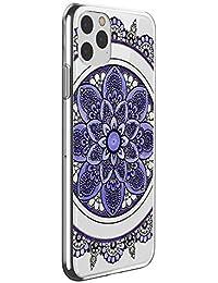 Suhctup Funda Compatible con iPhone 12 MAX,Carcasa Protectora de Silicona Transparente TPU Bumper con Floral Diseño,Ultra Fina Anti-Choques y Anti-Arañazos Resistente Case,Púrpura