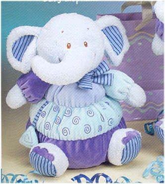 Princess Lil Blue Baby Elephant Rattle 7