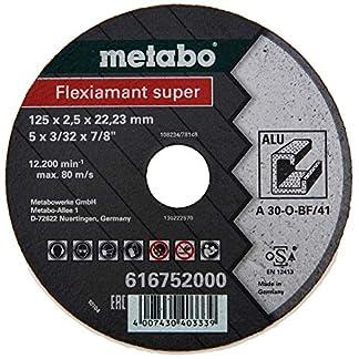 Metabo 616752000 616752000-Disco de tronzar para Amoladora Angular Flexiamant Super A30-O Aluminio Plano Ø 125 x 2,5 x 22,22 mm (Envase de 25 Ud)
