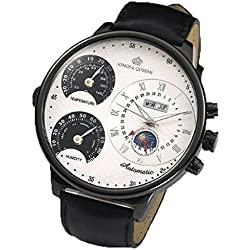Kings & Queens KQ4005 Mens Oversized 55mm Automatic Mechanical Watch White Face
