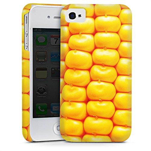 Apple iPhone 4 Housse Étui Silicone Coque Protection Maïs Grillades barbecue Nourriture Cas Premium mat