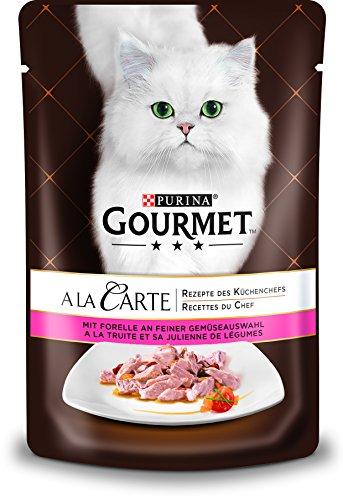 Gourmet a la Carte Katzenfutter Forelle an feiner Gemüseauswahl, 24er Pack (24 x 85 g)