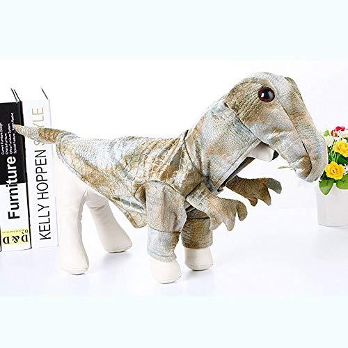 Hunde Kostüm Dinosaurier - BYFWA Haustierkostüm für Hunde und Katzen,Haustierkleidung, Halloween Kostüm Dinosaurier, geeignet für kleine Hunde (S, M, L)
