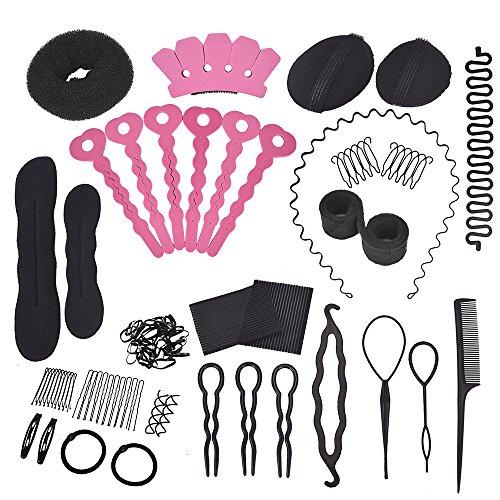 Haare Frisuren Set Haare Styling Set Haar Styling Zubehör Haar Clip-Pads 20 Stück DIY Frisurenhilfe Set Frisuren Werkzeuge Set für Frauen Mädchen geeignet für Anfänger