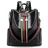 viaggio PU zaino donna vintage casual scuola laptop borsa elegante scolastico ragazza adolescente outdoor borse nero