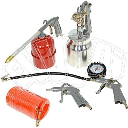 Kit 5 accessori per compressore aria compressa pistola gonfiaggio aerografo abac