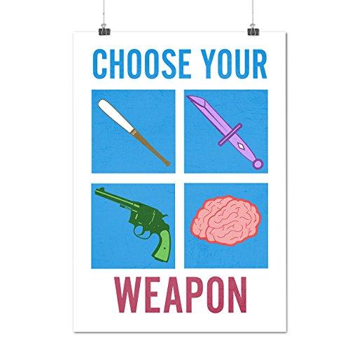 choisir-votre-arme-mortel-pistolet-matte-glace-affiche-a2-60cm-x-42cm-wellcoda