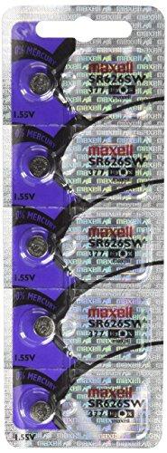 5Maxell Batterien Knopfzelle SR626SW 377 Silver Oxide Watch Battery