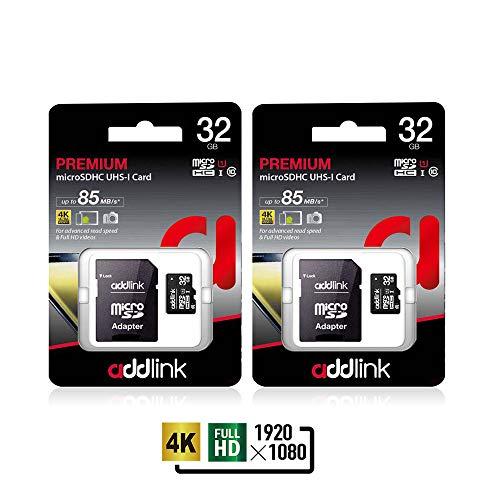 Addlink 32GB 2Pack microSDHC C10 UHS-I-Speicherkarte mit Adapter lesen bis zu 85MB / s (2 Einzel Package) Nikon-dslr D300s Kit