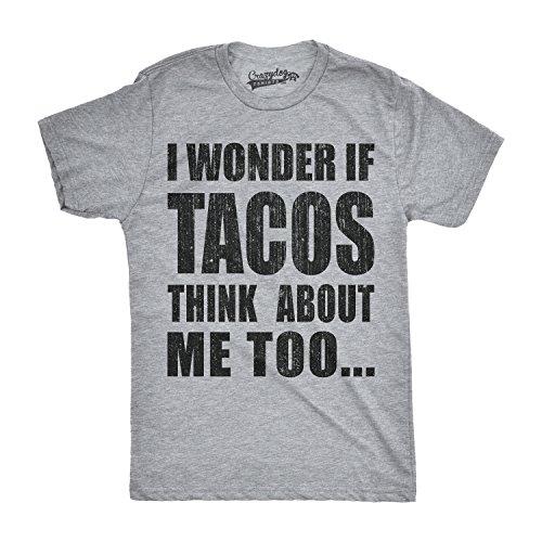 ns I Wonder If Tacos Think about Me Too Funny Taco Tuesday Cinco De Mayo T Shirt (Grey) XXL - Herren - XXL (Cinco De Mayo Getränke)