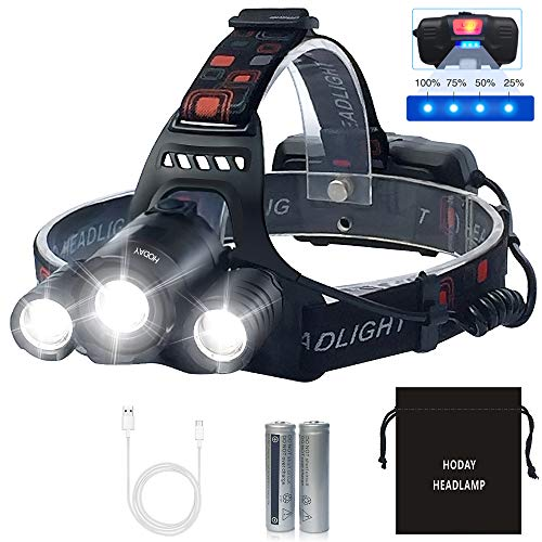 Linterna Frontal LED Recargable de Trabajo