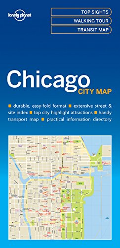 Chicago City Map - 1ed - Anglais par Lonely Planet LONELY PLANET