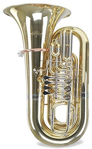 Lechgold BT14/5 Bb-Tuba (5 Zylinderventile, Minibal-Gelenke, inkl. Koffer und Mundstück)