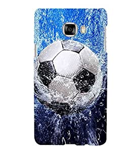 Football in Water Hard Polycarbonate Designer Back Case Cover for Samsung Galaxy C5 :: Samsung Galaxy C5 SM C5000