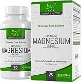 Fórmula de Magnesio - 330 mg de Magnesio Activo por Dosis (90 Cápsulas Vegetarianas) | Combinado con Vitamina B6 y Zinc | PARA MEJORAR EL ÁNIMO Y LA FUNCIÓN COGNITIVA | 3 Tipos Diferentes de Magnesio Altamente Biodisponible - GLICINATO, TAURATO & MALATO | Hecho en UK en Instalaciones con Licencia ISO | 1 MES DE SUMINISTRO (1 Botella)