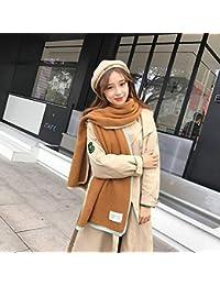 IBUP Femme Japonais et Corée du Sud Jacquard Jacquard Automne et Hiver  Couleur Côté College Wind Japonais Rayures Écharpe… f1d82f7236d