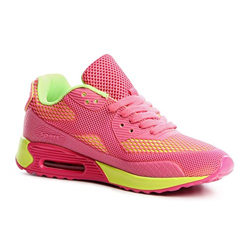 topschuhe24, Sneaker donna Rosa (Rosa fluo)