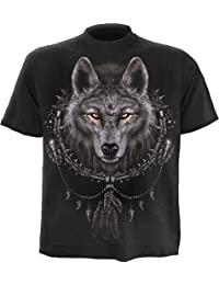 Spiral - Men - WOLF DREAMS - T-Shirt Black