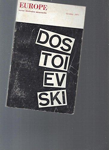 Dostoëvski, Europe, revue littéraire mensuelle n°510 octobre 1971
